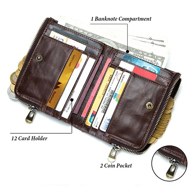 Genuine Leather Men's Wallet RFID - Epic Deal Shop