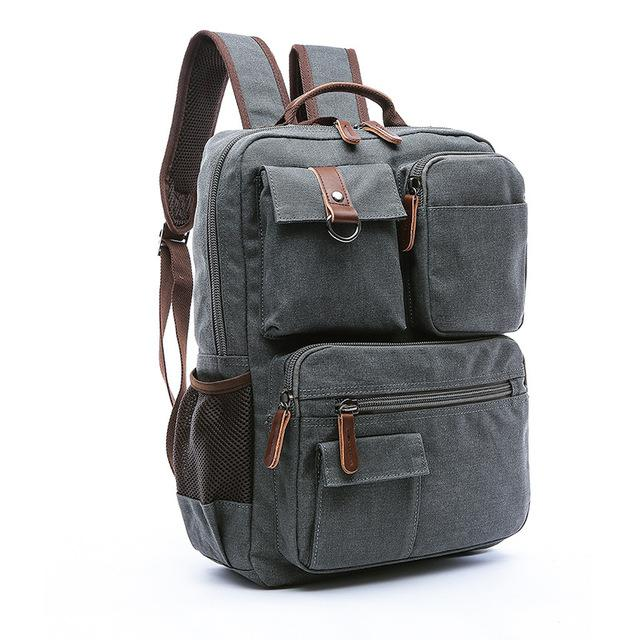 Vintage Deluxe Canvas Backpack
