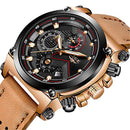 Automatic Sport Leather Watch Chronograph - Epic Deal Shop