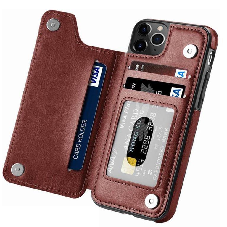 iPhone Wallet Case Premium Card Holder Leather