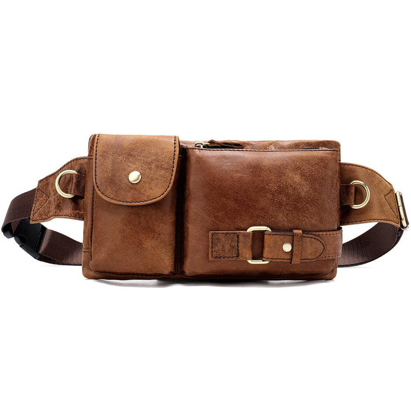 Multifunctional Genuine Leather Waistbag - Epic Deal Shop