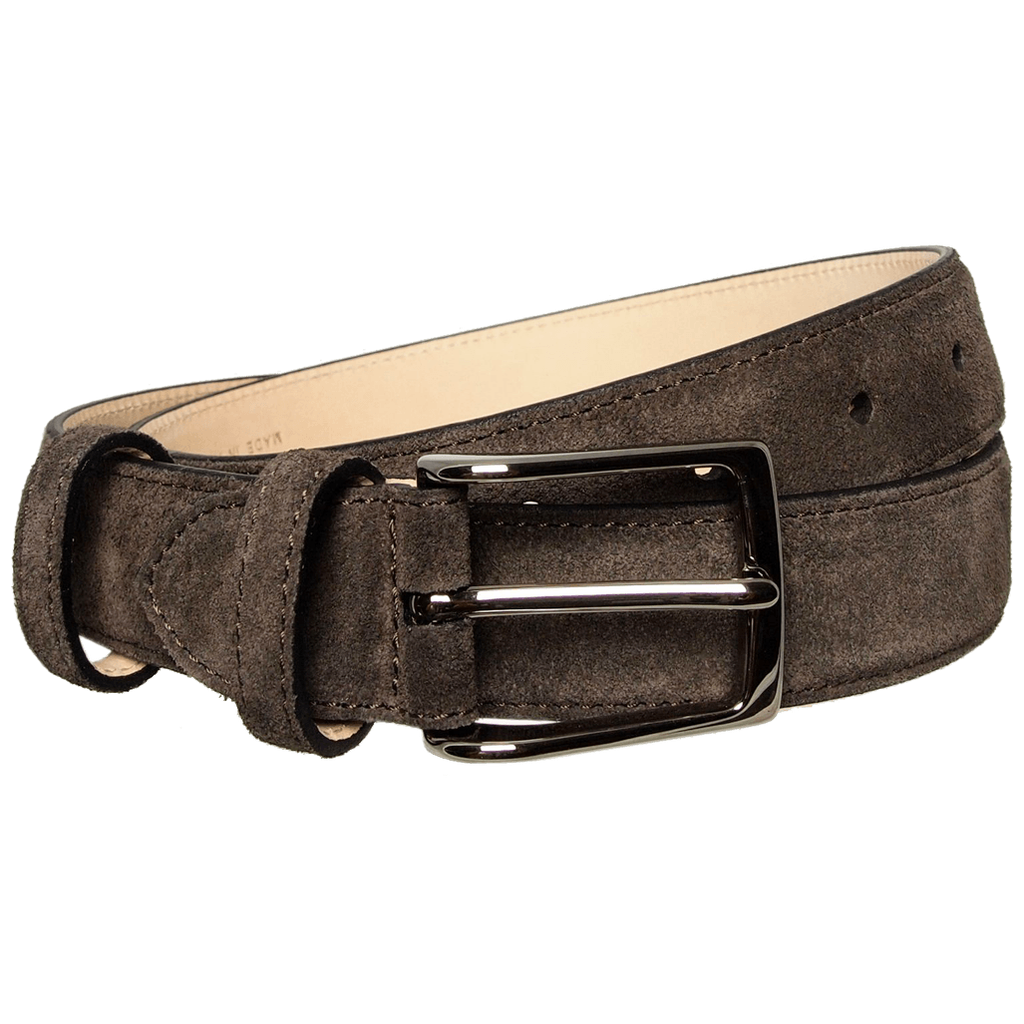 30 mm Sartorial Suede Belt Bison