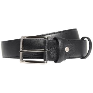 34mm Duo Ply Calf Leather Belt Black