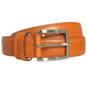 34 mm Antiquated Cowhide Belt Tan