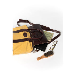 "15"" Laptop Case - Brown and Yellow - Monogram"