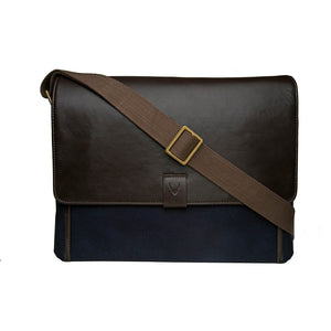 Hidesign Aiden Canvas Leather Laptop Messenger