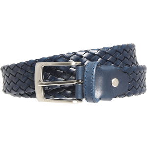 34 mm Tubular Weave Belt Navy