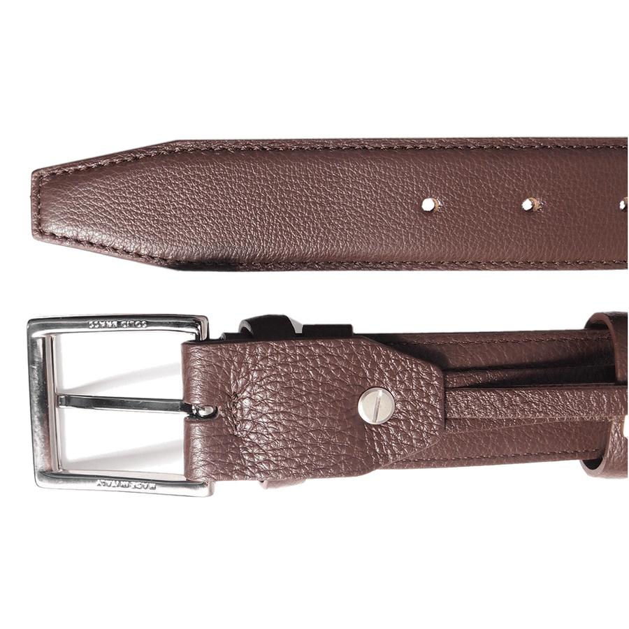 34mm Duo Ply Calf Leather Belt Brown