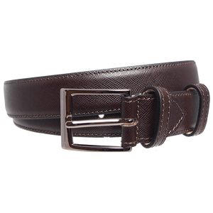 30 mm Sartorial Saffiano Belt Brown