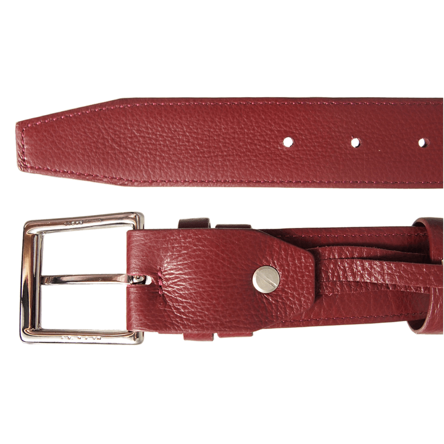 34mm Duo Ply Calf Leather Belt Rosewood