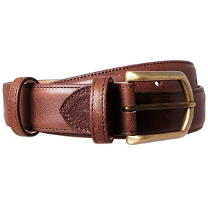 35 mm Antiquated Full Grain Leather Belt Brown