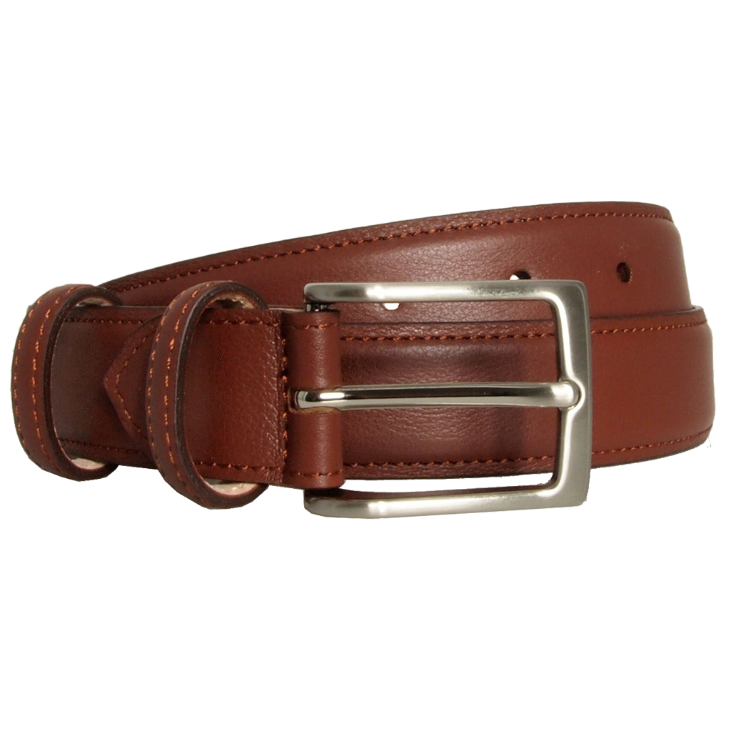 30 mm Sartorial Fine Grain Leather Belt Brown
