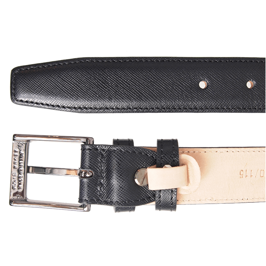 30 mm Sartorial Saffiano Belt Black