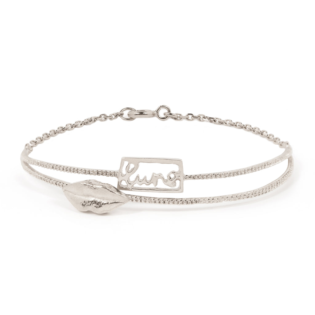 Delicate Bracelet with lips and lune