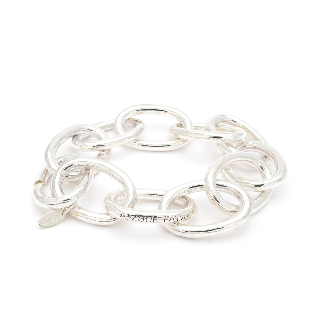 Sterling Silver chained statement bracelet