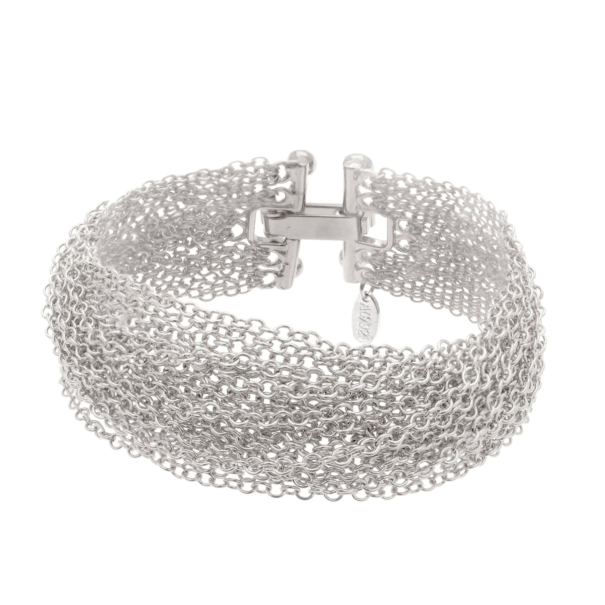Sterling Silver multi-chained statement bracelet