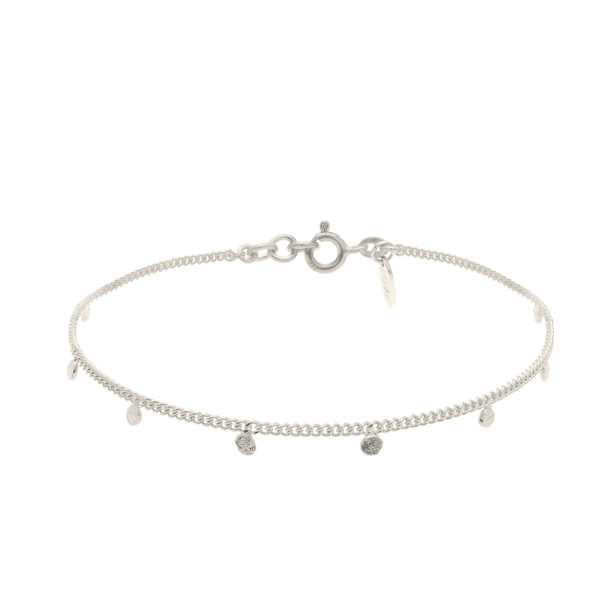 Sterling Silver fine bracelet with charms