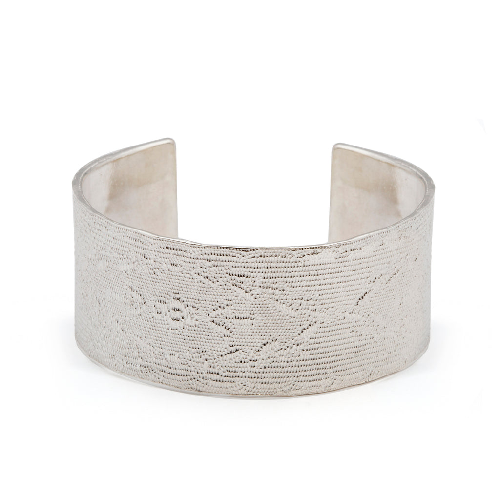 Statement cuff Bracelet of cast ribbon