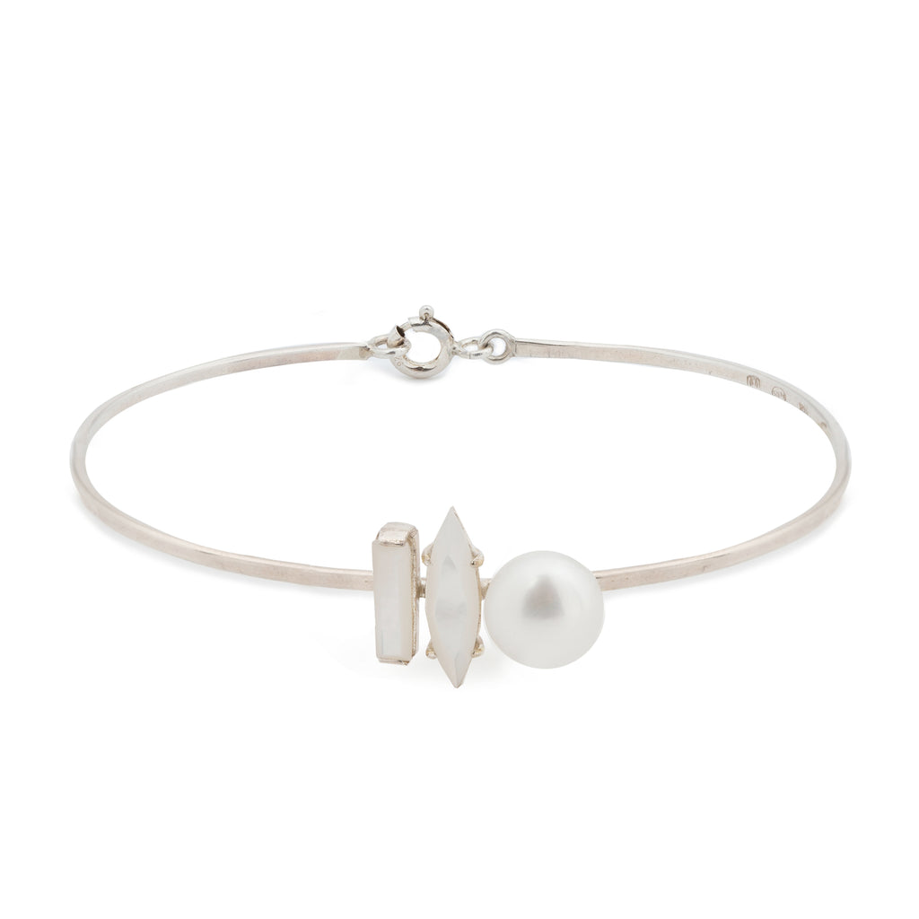 Delicate Bracelet with Mother of Pearl and Pearl