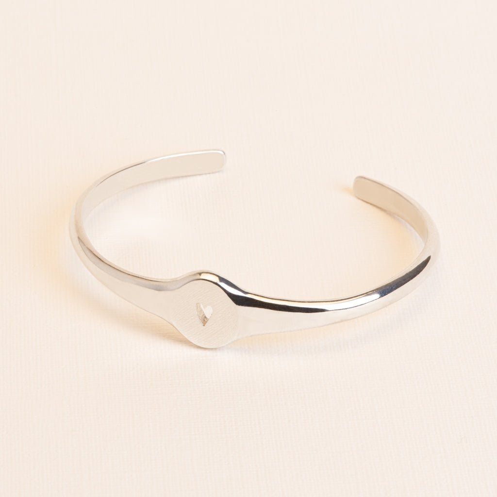 Bangle Bracelet with heart shaped cut out