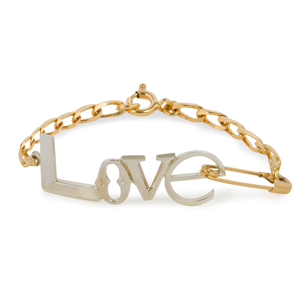 Love Bracelet with chain and safety pin
