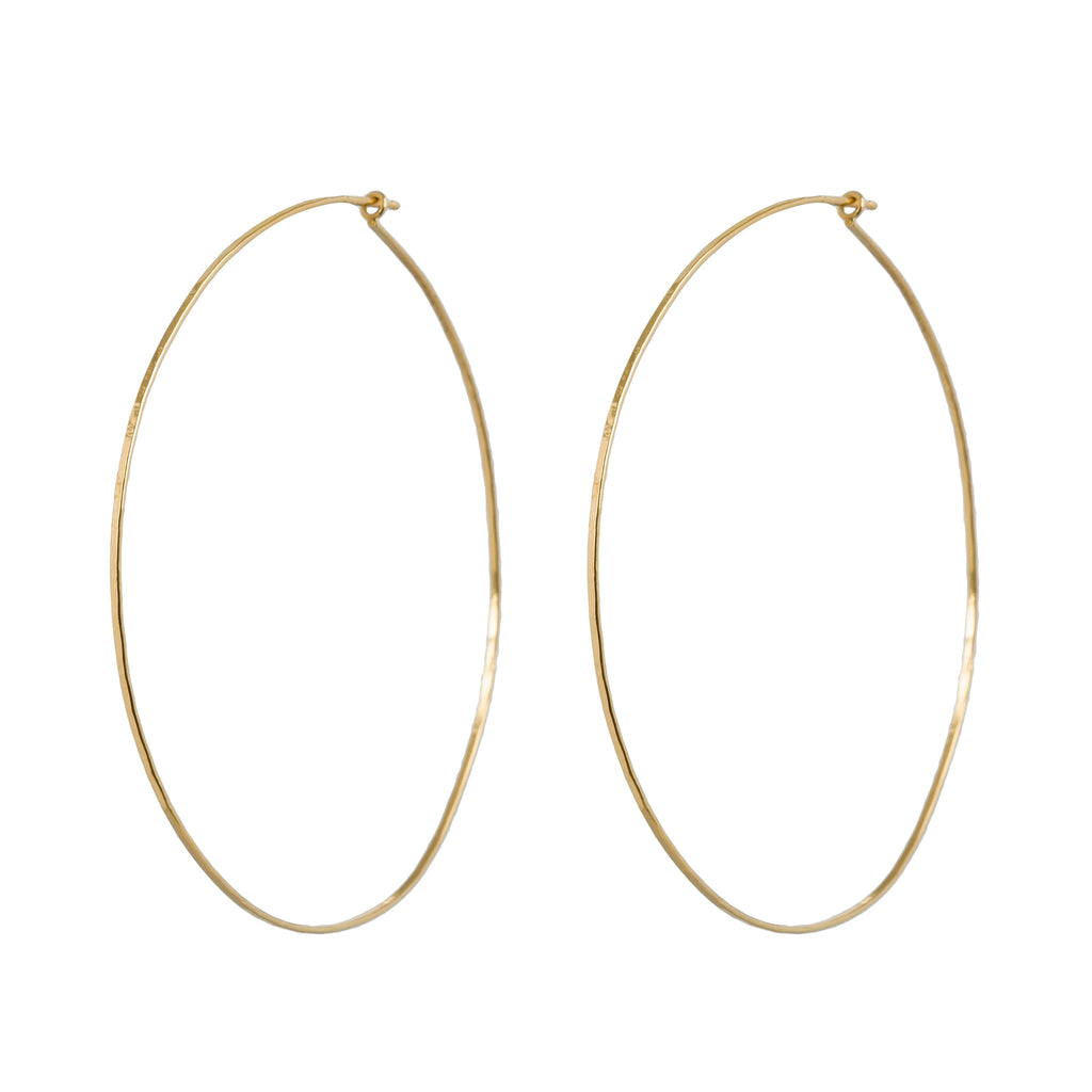 Delicate oversized Hoop Earrings