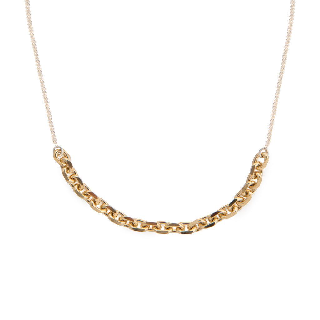 Two-toned Necklace with chunky chain detail