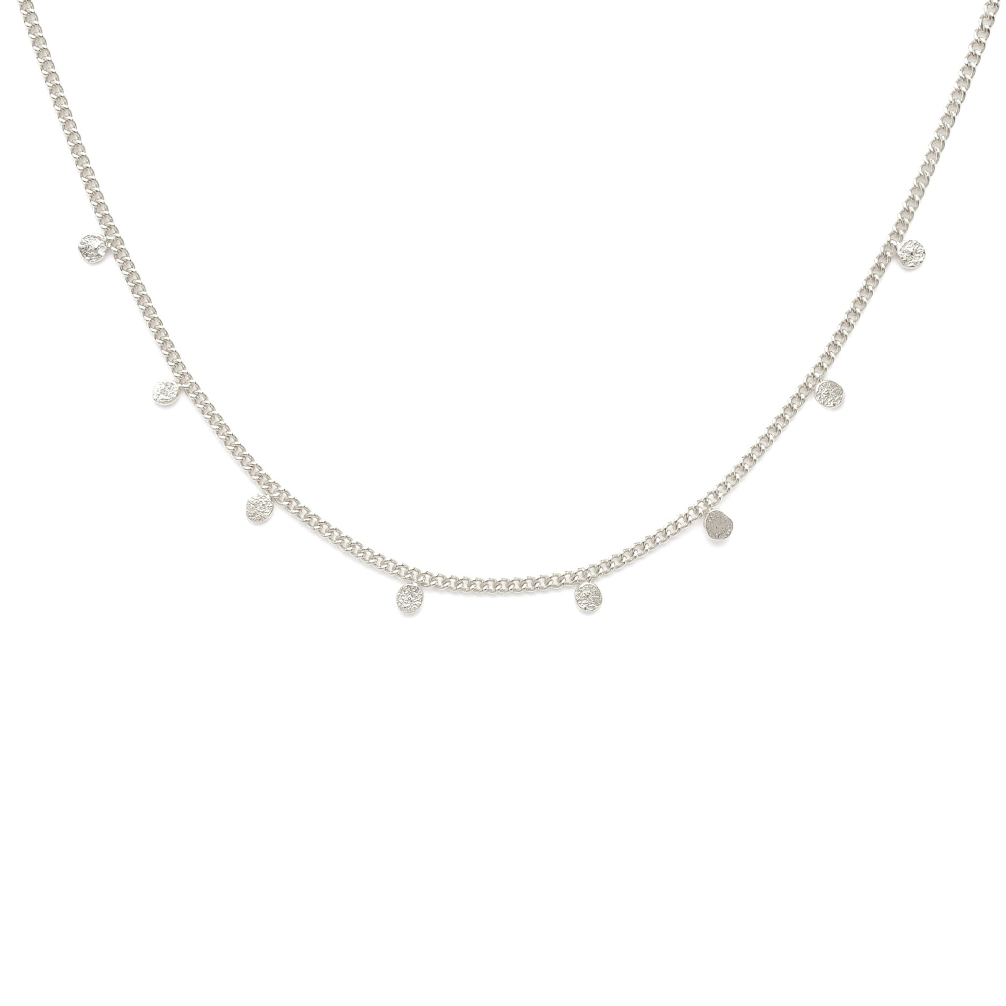 Sterling Silver fine necklace with charms