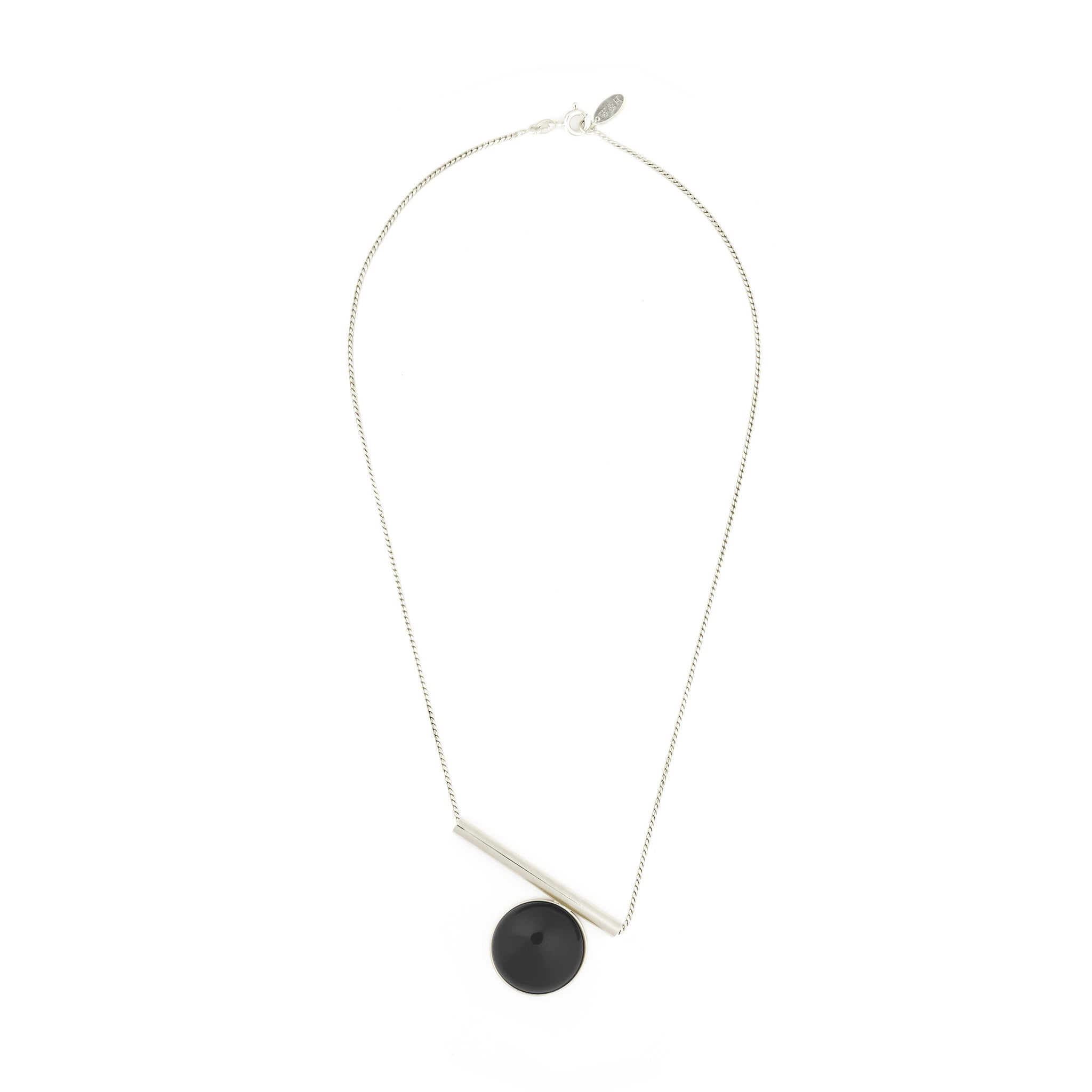 Sterling silver Necklace with Onyx stone