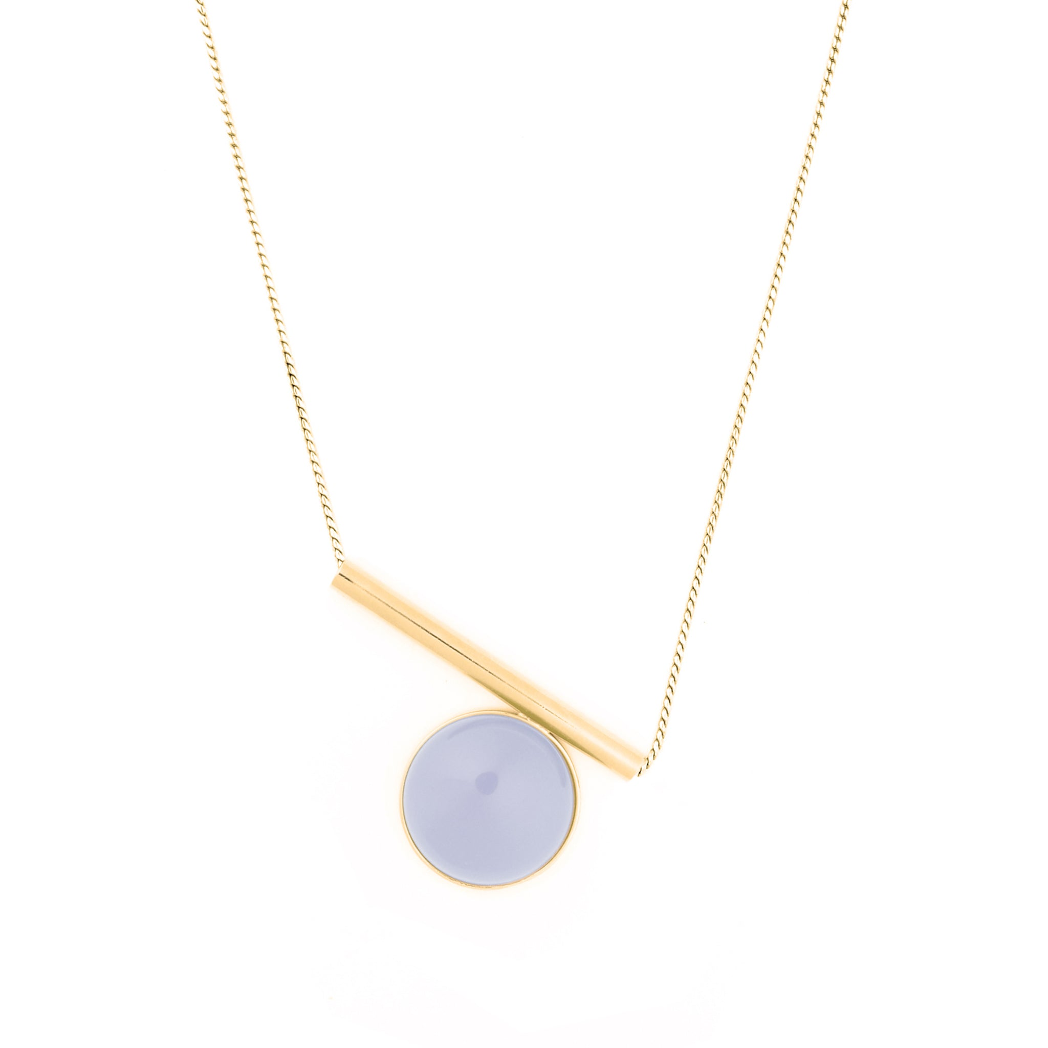 Sterling silver Necklace with blue Chalcedony