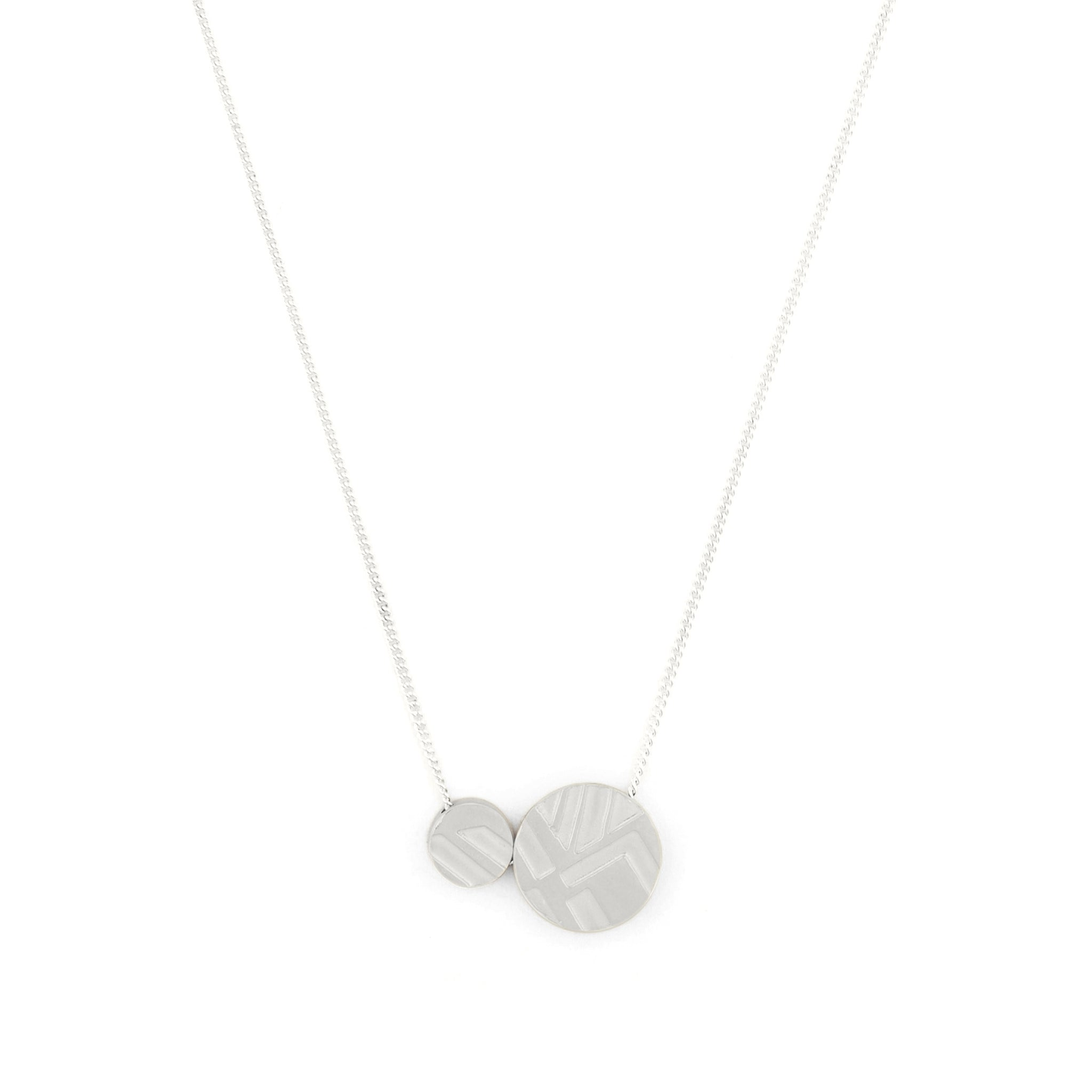 Sterling silver Fine Necklace with etched Pendant