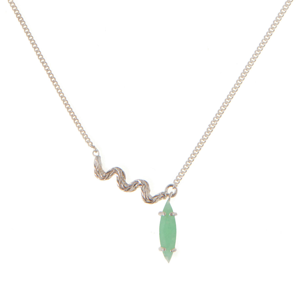 Delicate Necklace with Chrysoprase