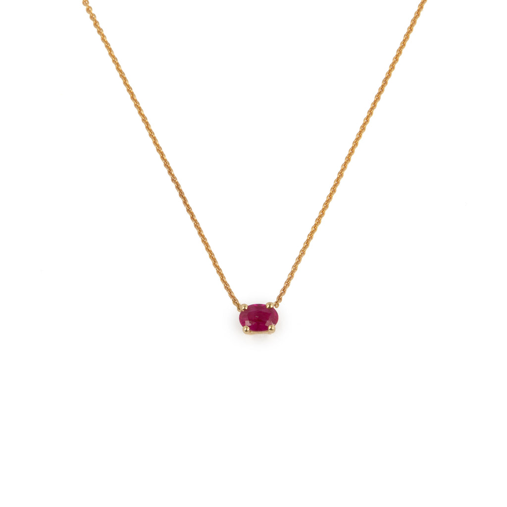 18kt Gold Necklace with Ruby