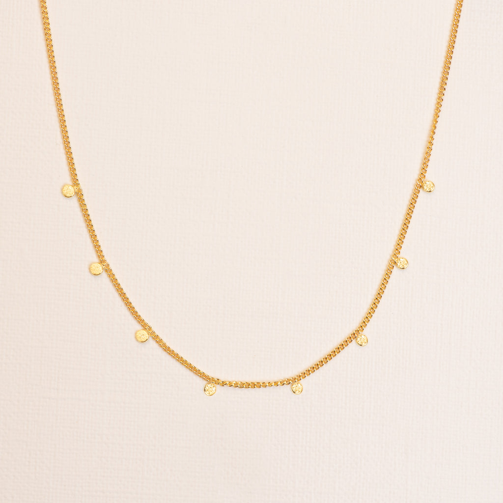 18kt Gold fine Necklace with Charms