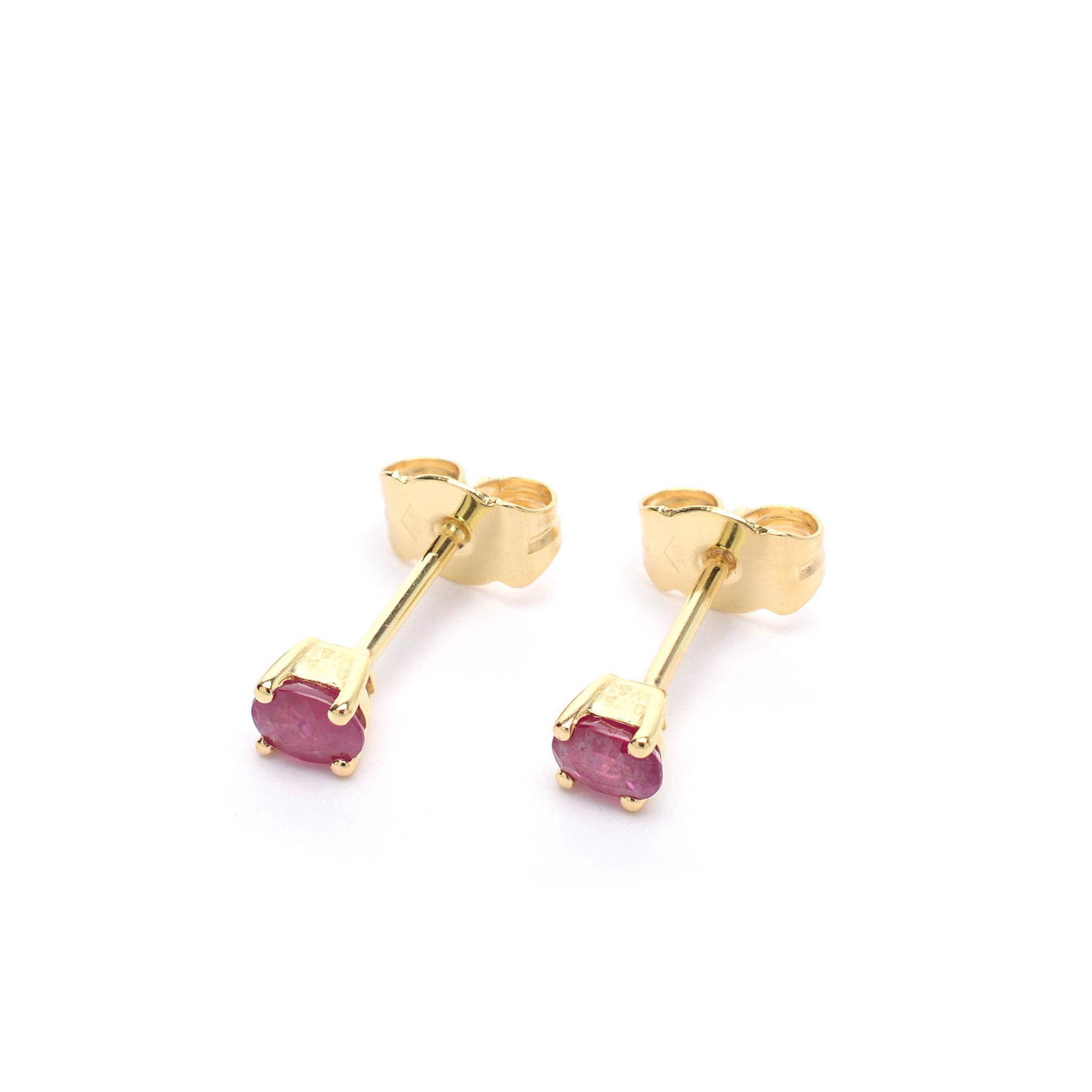 18kt Gold Stud Earrings with Ruby
