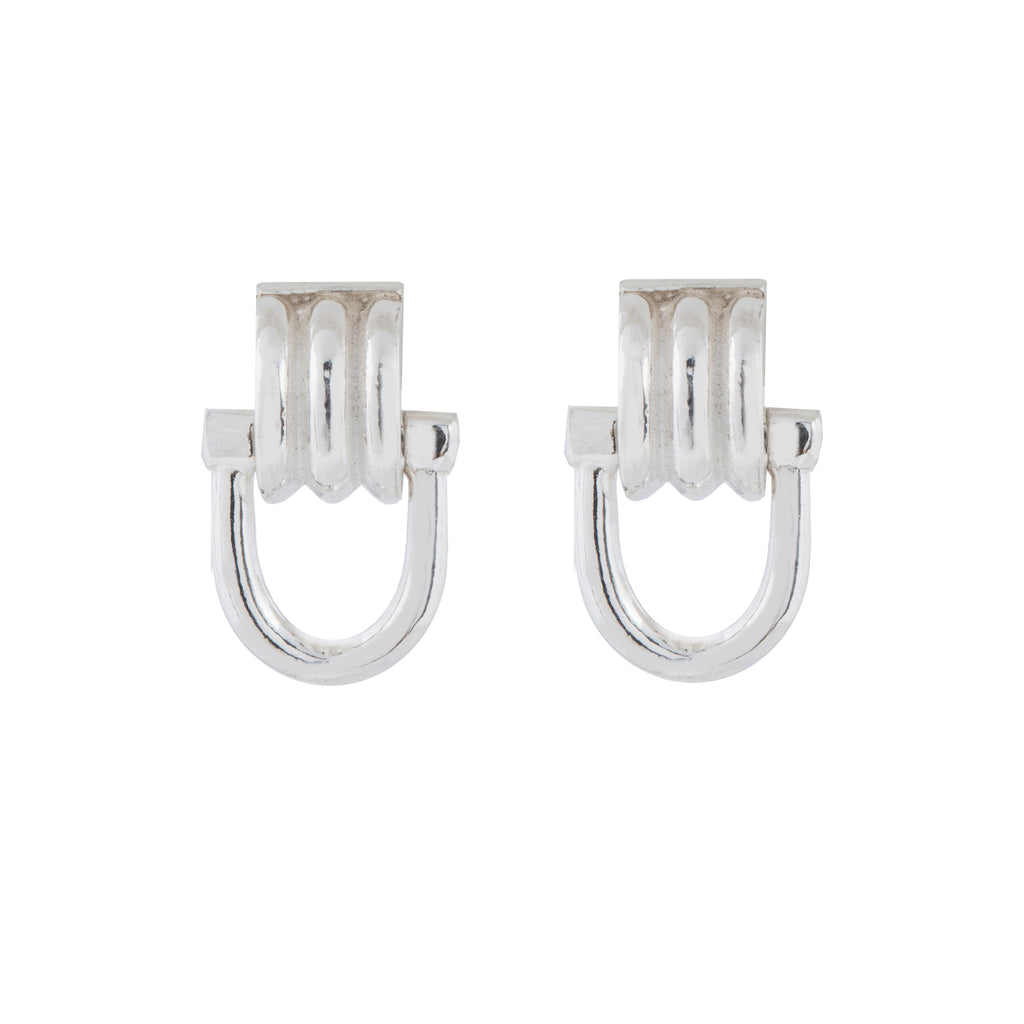 Elegant Stud Earrings with dangling clasp