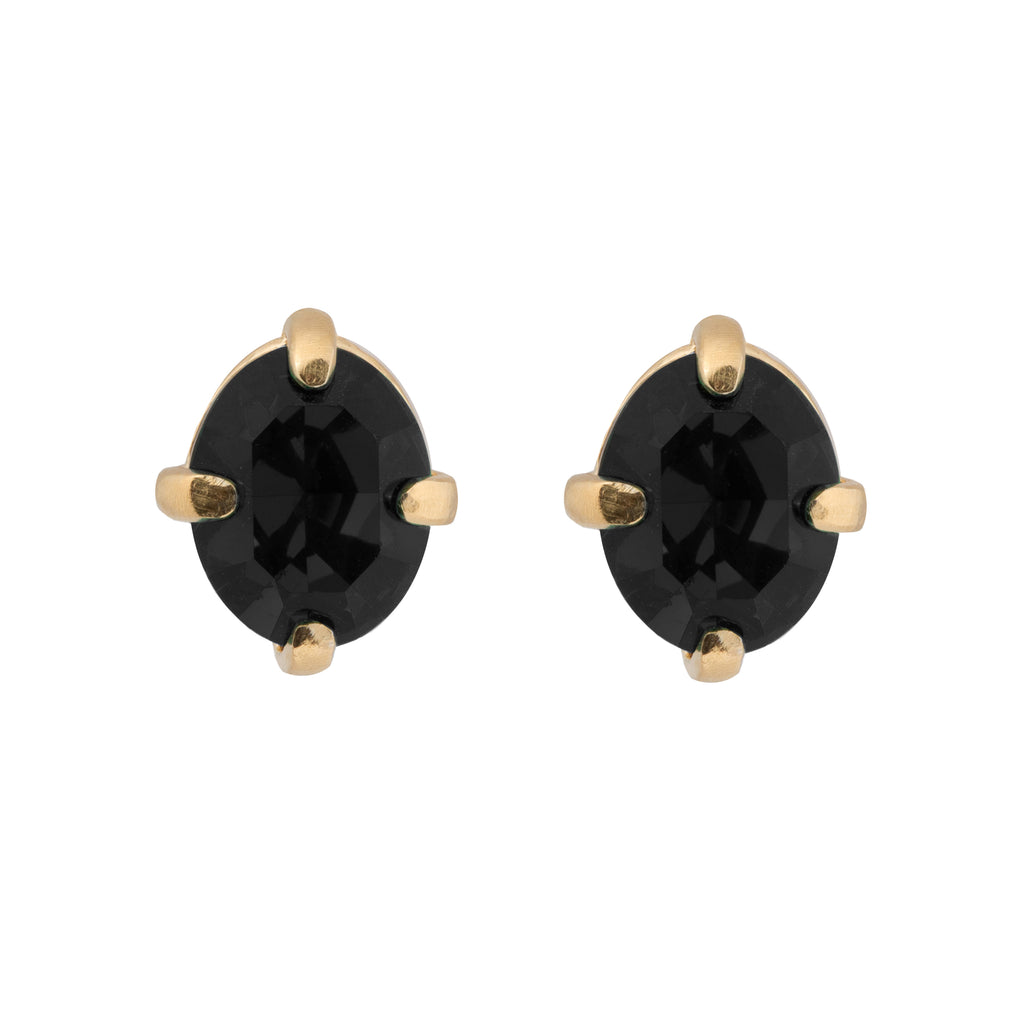 Fine Stud Earrings with Onyx