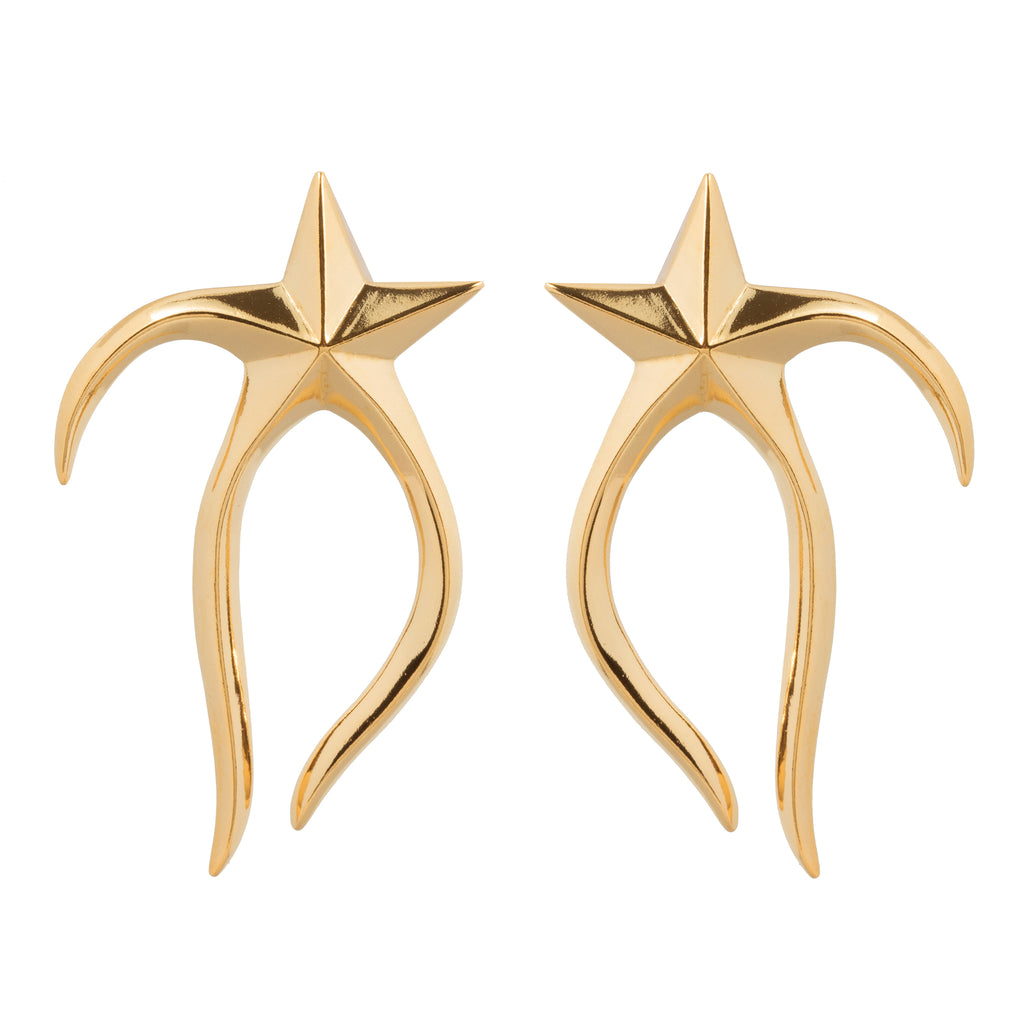 Statement Stud Earrings with melting star
