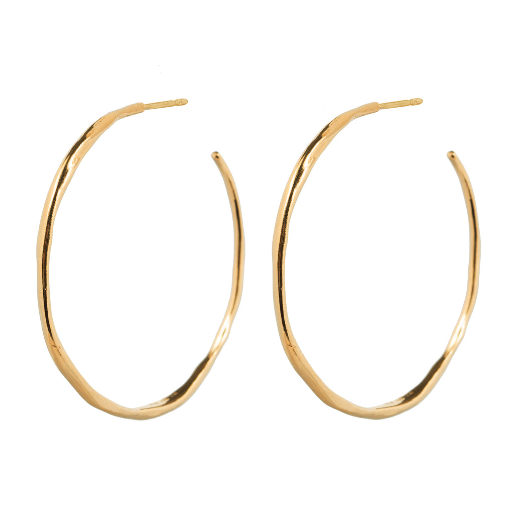 Statement Organic shaped Hoop Earrings
