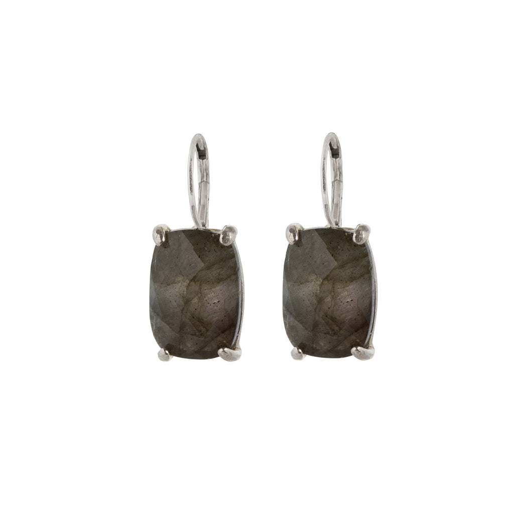 Leverback Earrings with Labradorite
