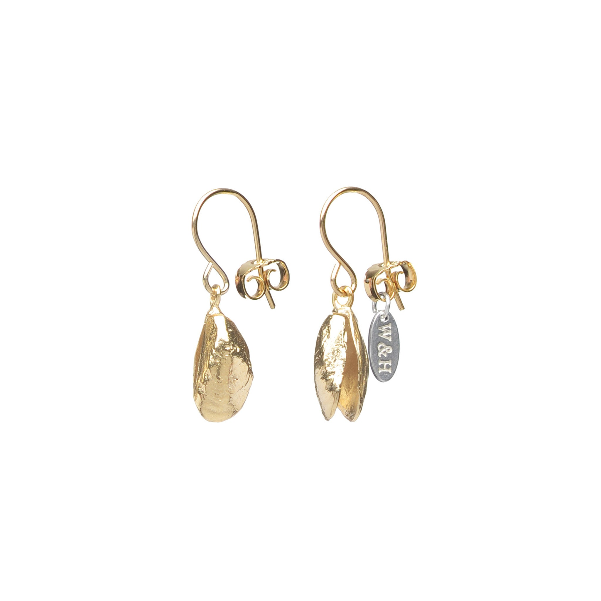 Sterling Silver mussel hook earrings