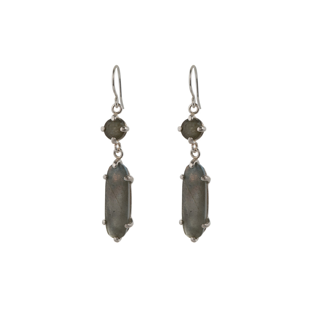 Hook Earrings with Labradorite