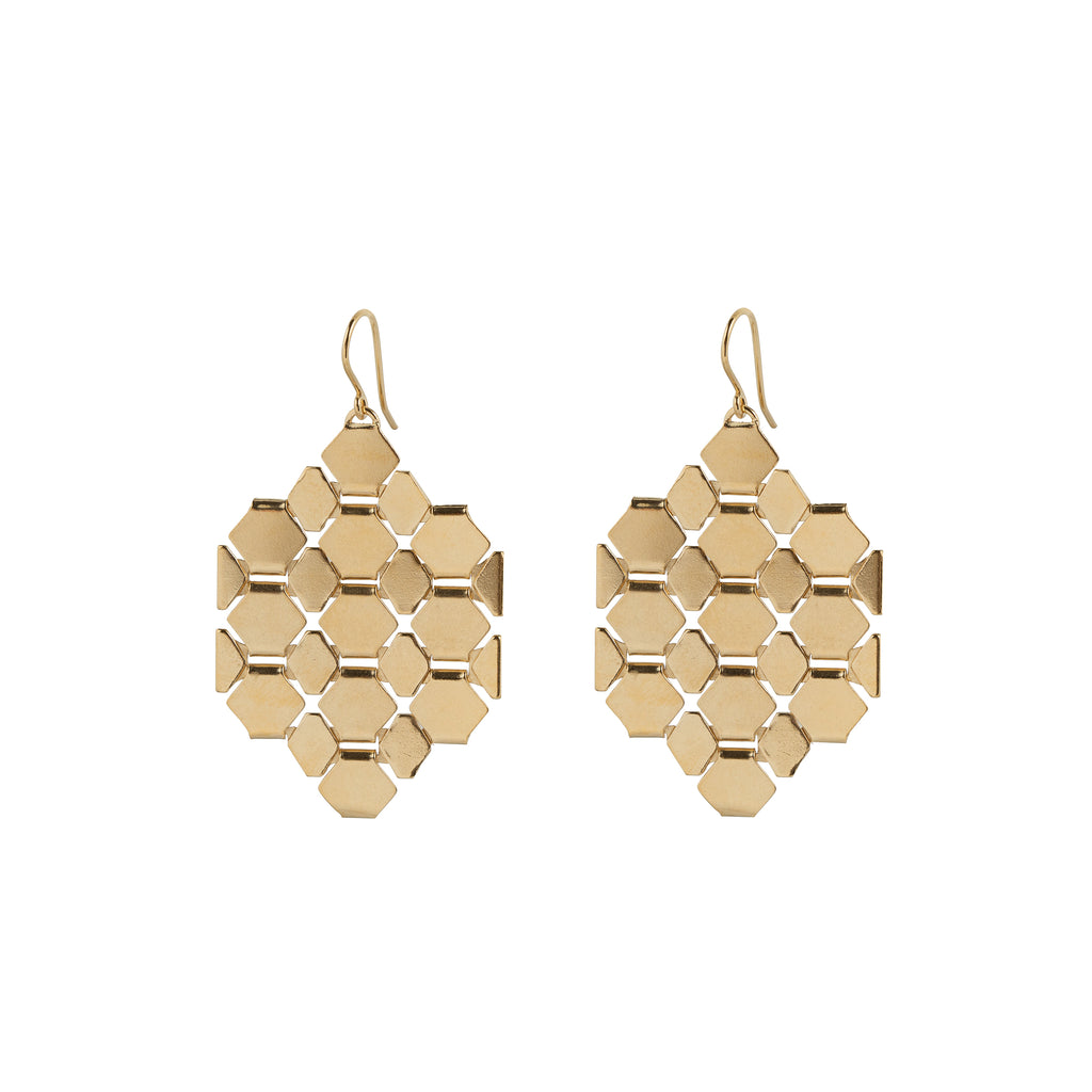 Angular statement Hook Earrings