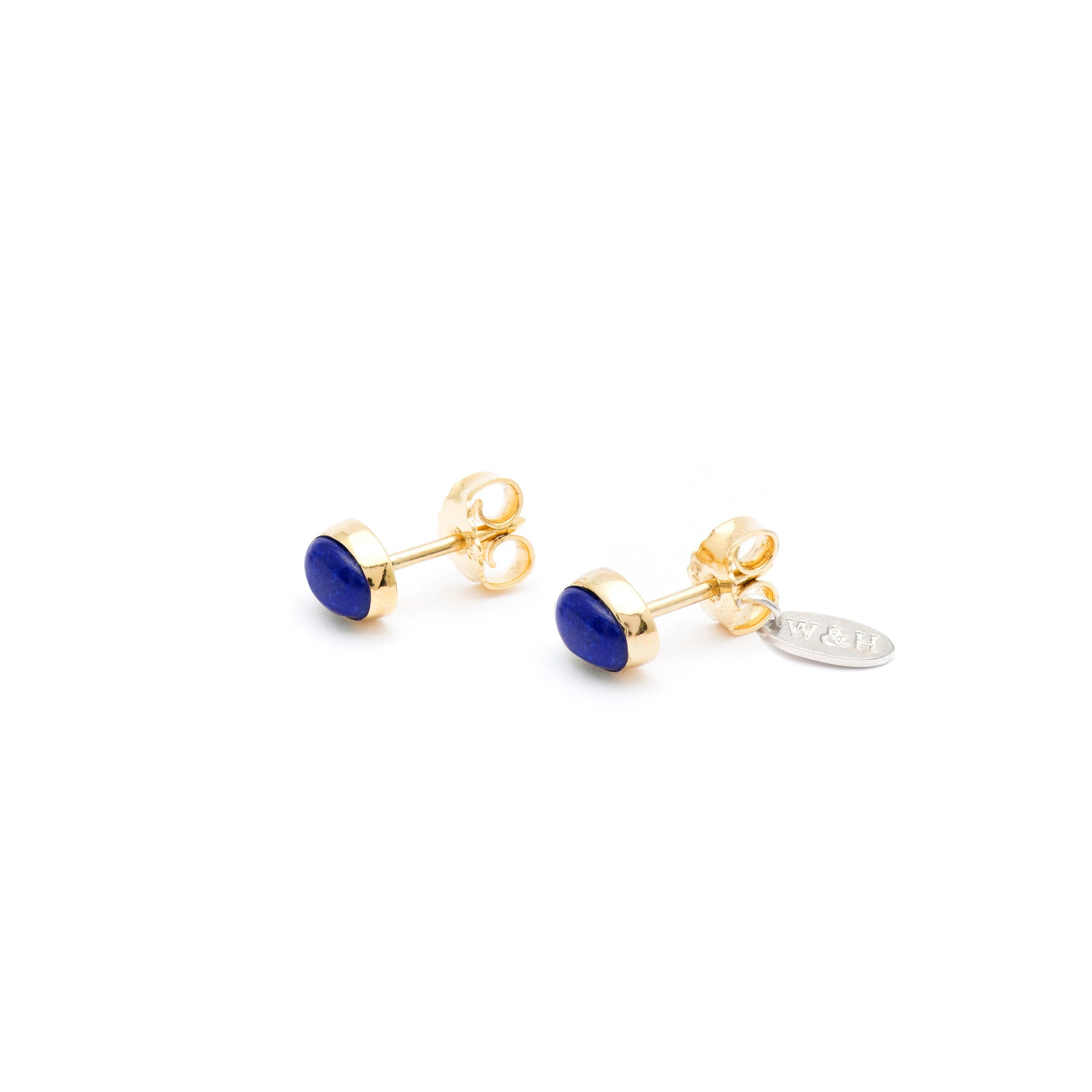 Stud Earrings with Lapis Lazuli stone