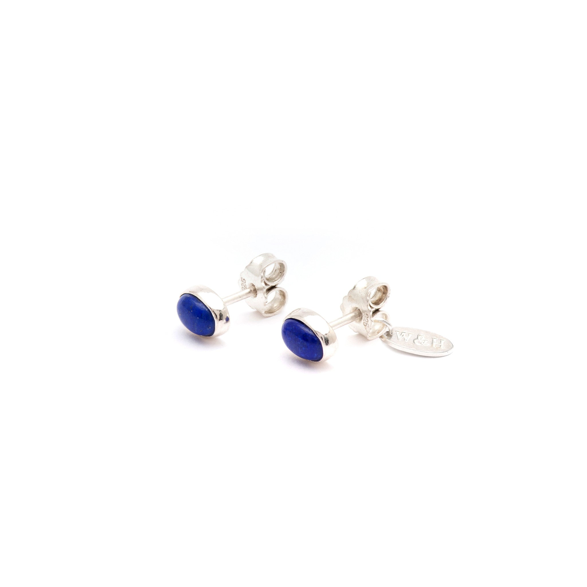 Wouters & Hendrix 18kt gold, diamond and sapphire stud earrings - Blue