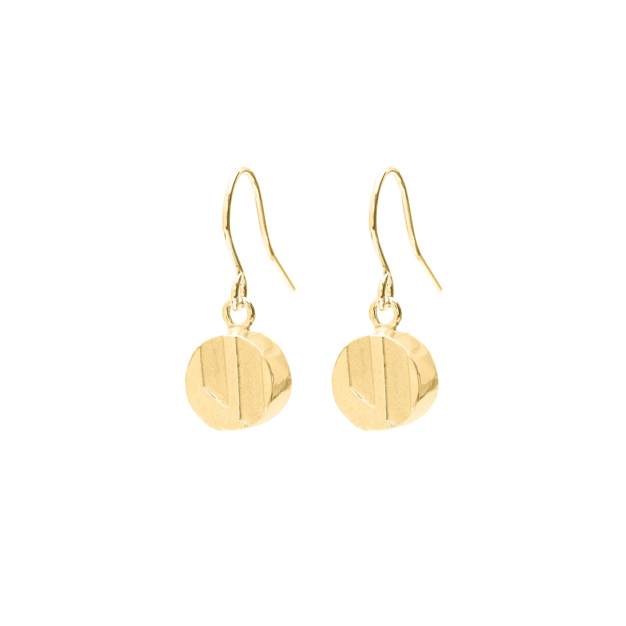 Fine Hook Earrings with etched Pendant
