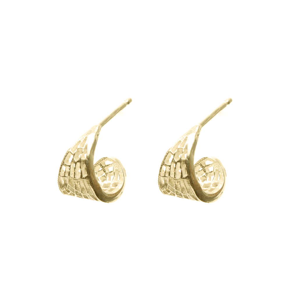 Wing shaped delicate Hoop Earings