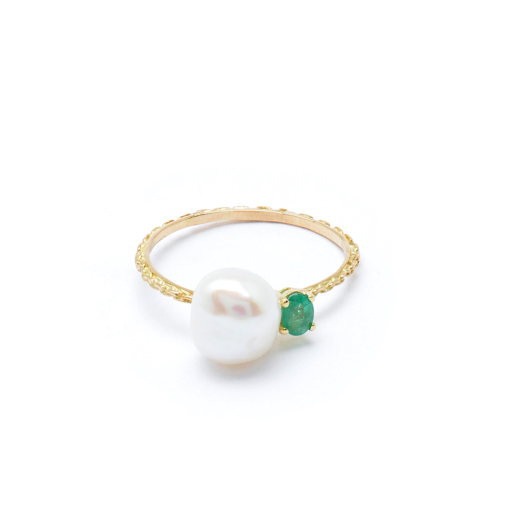 cultured gold ring pearl itm rose freshwater rings about engagement genuine details diamond