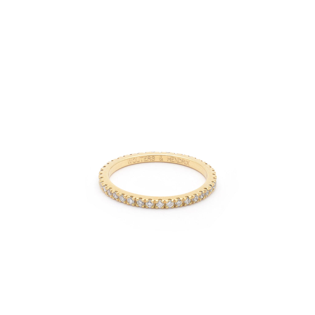 18kt Gold eternity Ring with White Diamonds