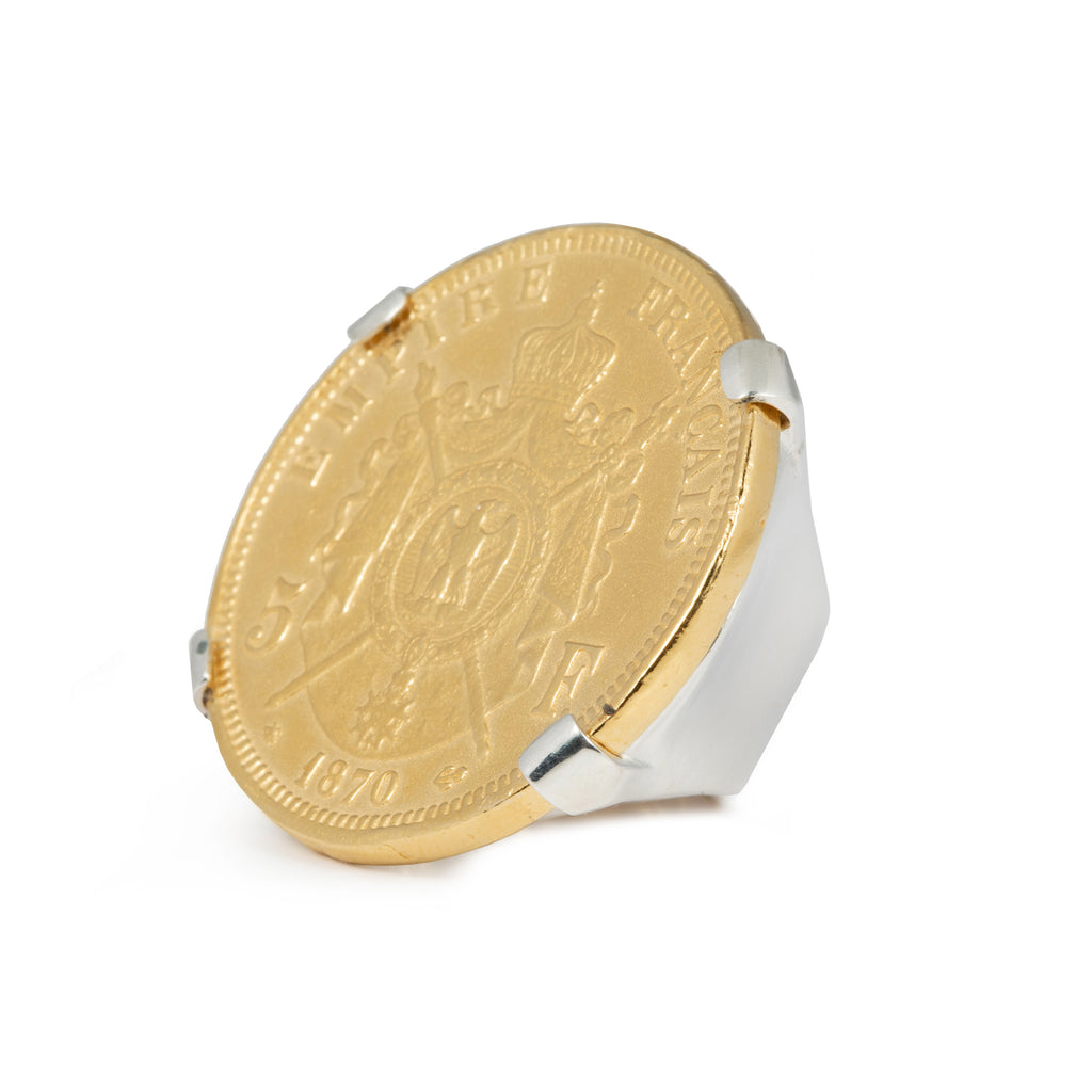 Statement coin Ring